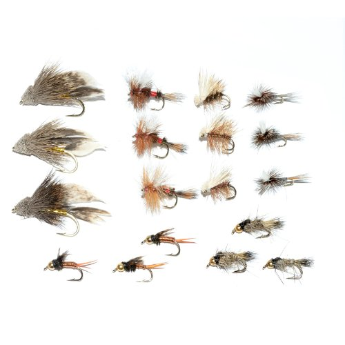 Trout Fly Starter Assortment - Collection of 18 Flies For Trout Fly Fishing - Beginners Fly Selection ()