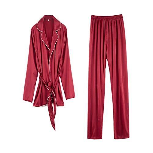 Sexy Sera Set Seta Lunghe Casual Pigiama Donna Maniche Lovenipigiama A Di Rosso Da In Donna Abbigliamento L Da Pantaloni Abiti qwZEYzU