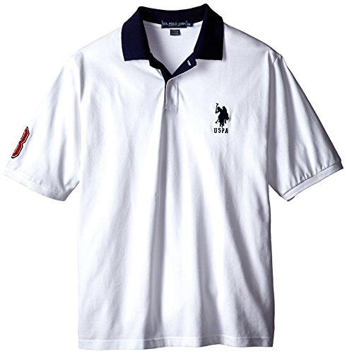 U.S. Polo Assn. Men's Big-Tall Solid Slim Fit Pique Polo Shirt