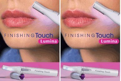 Finishing Touch Hair Trimmer - Finishing Touch Lumina Lighted Hair Remover with Pivoting Head (Pack of 2)