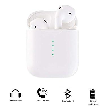 TWS True Wireless Bluetooth 5 0 Earphones Headphones In-Ear Music Earbuds  with Mic