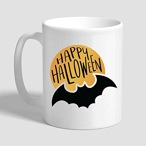 Happy Halloween, Halloween Mug, Halloween Gifts, Halloween Lover, Halloween Glass, Funny Halloween Gift, (Bbc Food Halloween Cake)