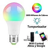 MINQISU Foco Inteligente, Foco LED Regulable, Funciona con Alexa y Google Home,...