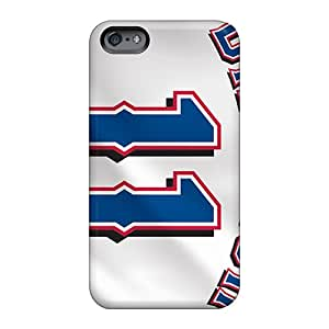 Shock-Absorbing Cell-phone Hard Covers For Apple Iphone 6 Plus With Allow Personal Design Fashion Texas Rangers Pattern Icase88
