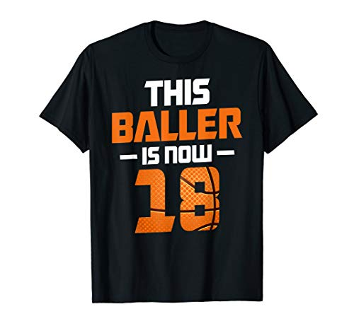 18thBirthday Gift for Boy Son Basketball 18 Years Old Kid T-Shirt