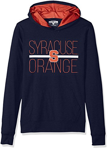Levelwear LEY9R NCAA Syracuse Orange Women's Recovery Line EM Up Pullover Hoodie, Medium, Solid Navy