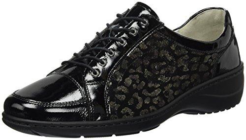Waldläufer Kya - zapatos con cordones de piel mujer Schwarz (2Xtaipei Savage 2Xtaipei Schwarz)