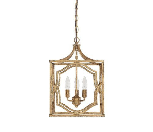 Capital Lighting 9481AG Blakely 3-Light Foyer Fixture, Antique Gold Finish by North Coast Lighting