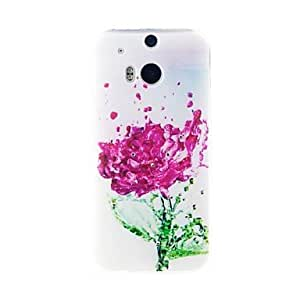 Kinston Withered Roses Diamond Paste Pattern TPU Soft Case for HTC one(M8)