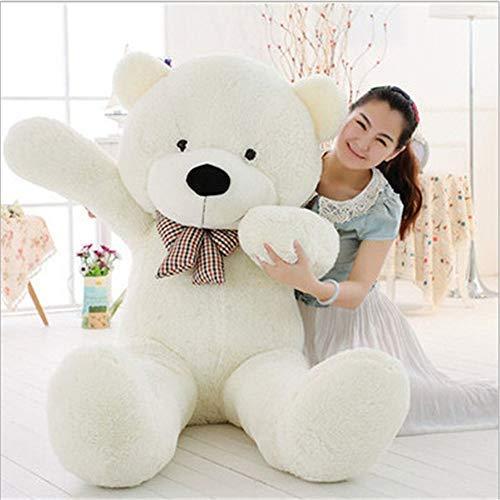 MaoGoLan MorisMos 47 inch Big Cute Plush Teddy Bear Huge Plush Animals Teddy Bear for Girl Children Girlfriend Valentine's Day White 1.2M
