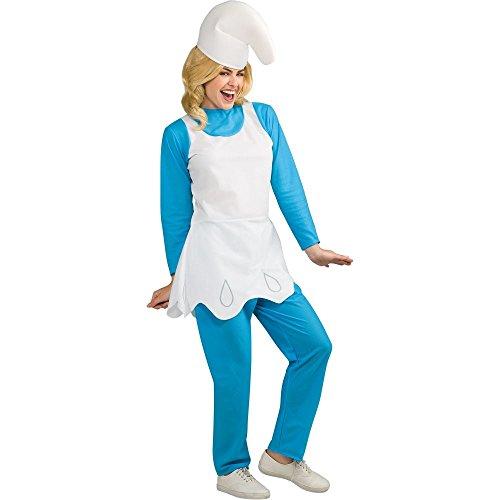 Smurfette Costume - Standard - Dress Size 10-12 -