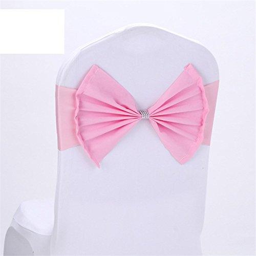6pcs/lot Bowknot Chair Cover Wedding Party Home Decor Chair Covers Housse De Chaise Mariage Decoration Pink