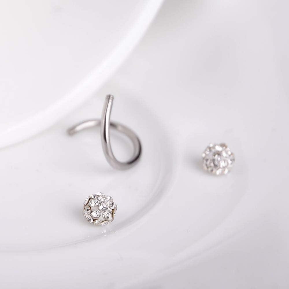 OOOUSE en Acier Chirurgical Helix Cartilage Cristal doreille /à Tige Body Piercing Boucles doreilles 16/g par Thimmei