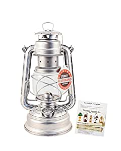 """Feuerhand Hurricane Lantern - German Made Oil Lamp 10"""" - with Care Pack"""
