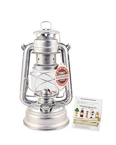 Feuerhand Hurricane Lantern - German Made Oil Lamp 10'' - with Care Pack by Vermont Lanterns