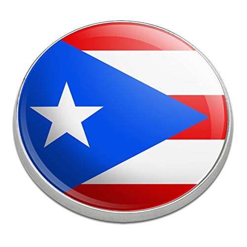 (GRAPHICS & MORE Puerto Rico Country Flag Golfing Premium Metal Golf Ball Marker)