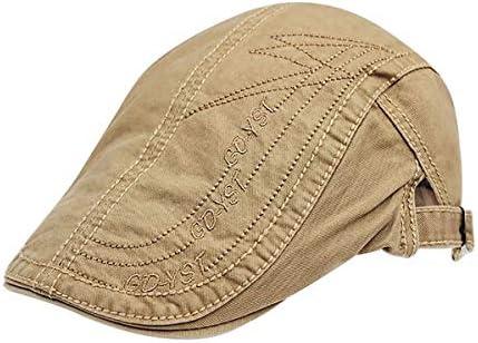 野球帽 キャスケット メンズ ハット ゴルフ コットン 日よけ 調整可能 シンプル ハンチング LWQJP (Color : 褐色, Size : M)
