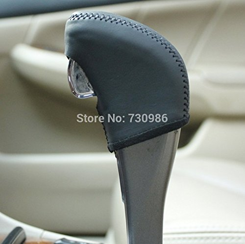 Hand Sewing Black Genuine Leather Gear Shift Knob Cover for 2005 2006 2007 Honda Accord 7 Automatic (Honda Accord Knob Cover compare prices)