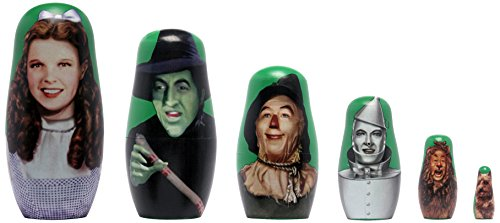 PPW Toys Wizard of Oz Wood Nesting Doll Action Figure (6 Piece) (Action Figure Wizard)