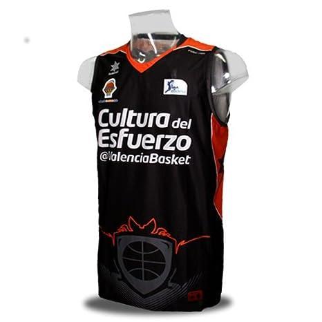 Camiseta del Valencia Basket de la Liga Endesa. 2ª Equipación. Color negro. (