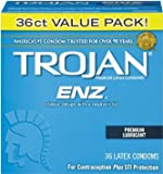 Trojan-enz Condom ENZ Lubricated, New Super Size Package of 108-Count Value!!