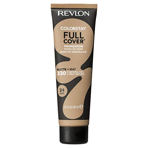 Revlon ColorStay Full Cover Foundation, Natural Tan, 1.0 Fluid Ounce