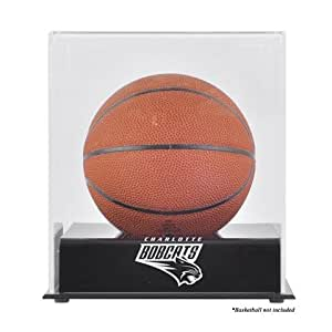 Charlotte Bobcats Black Base Mini Basketball Display Case - Mounted Memories Certified - Acrylic Basketball Display Cases