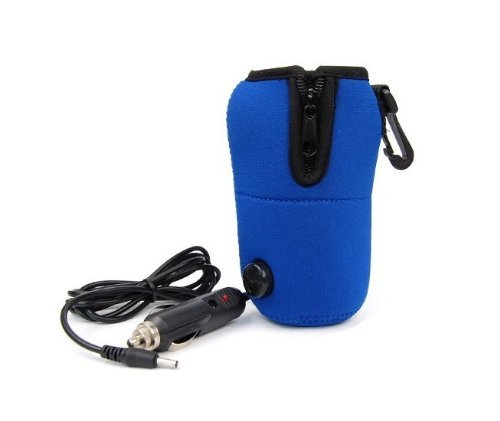 Top Seller High Quality New 12v Universal Travel Food Milk Bottle Cup Warmer Heater in Car for Baby Kids Blue