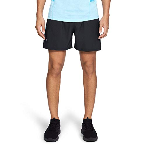 Under Armour Men's Launch Sw 5'' Shorts, Black (011)/Reflective, Medium by Under Armour (Image #2)
