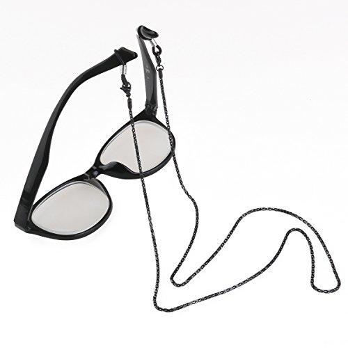 ROSENICE Non-slip Eyeglass Sunglasses Neck Strap Eyeglasses Chain Glasses Rope Black