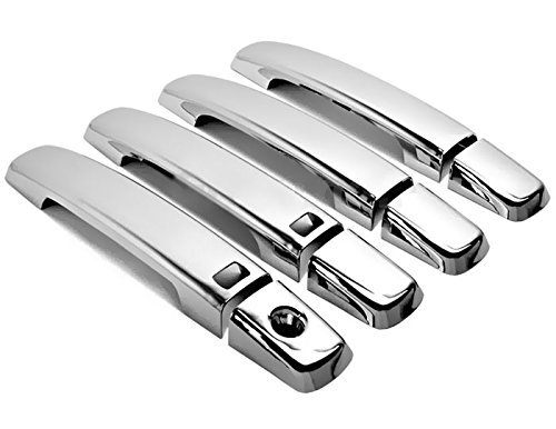 05 Chrome Door Handles (MaxMate 07-12 Nissan Sentra/Altima/05-12 Frontier/04-08 Maxima Chrome 4 Doors Handle Cover W/O Passenger Side Keyhole With Smart Key Hole)