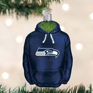 Seahawks Christmas Tree.Old World Christmas Glass Blown Ornament Seattle Seahawks Hoodie