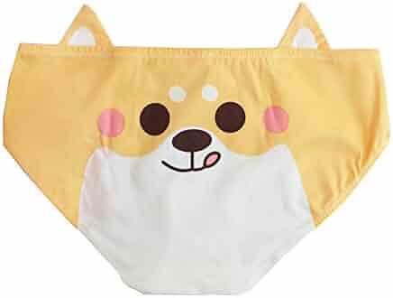 17af9ab77e58 TOMORI Womens Cute Shiba Inu Pantie 3D Japanese Corgi Underwear Lolita Doge  Printing Brief 2 Pack