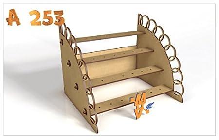 Kit para hacer tribuna porta chupetines / chupachups de madera DM para candy bar mesa dulce. Medidas: 50cm x 25xm x 18cm de alto: Amazon.es: Juguetes y ...