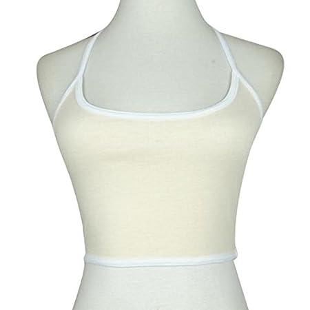 Bokeley Women Boho Tank Bustier Bra Vest Crop Top Bralette Blouse Cami Black, 3XL