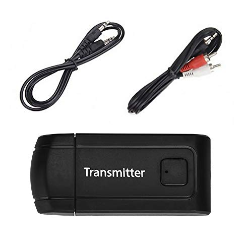 Orcbee  _USB Wireless BT4.0 Transmitter Stereo Audio Music Adapter for TV Phone PC Y1X2 Black