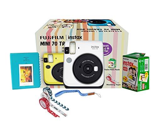 Fujifilm Instax Mini 70 Travel Box Combo Offer (White Camera