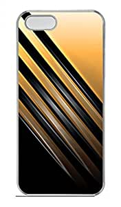 iPhone 5 5S Case Concise Black And Yellow Stripes Funny Lovely Best Cool Customize iPhone 5S Cover Transparent
