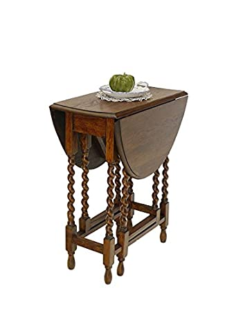 Gateleg Tisch.Tisch Beistelltisch Ziertisch Gateleg Antik Eiche