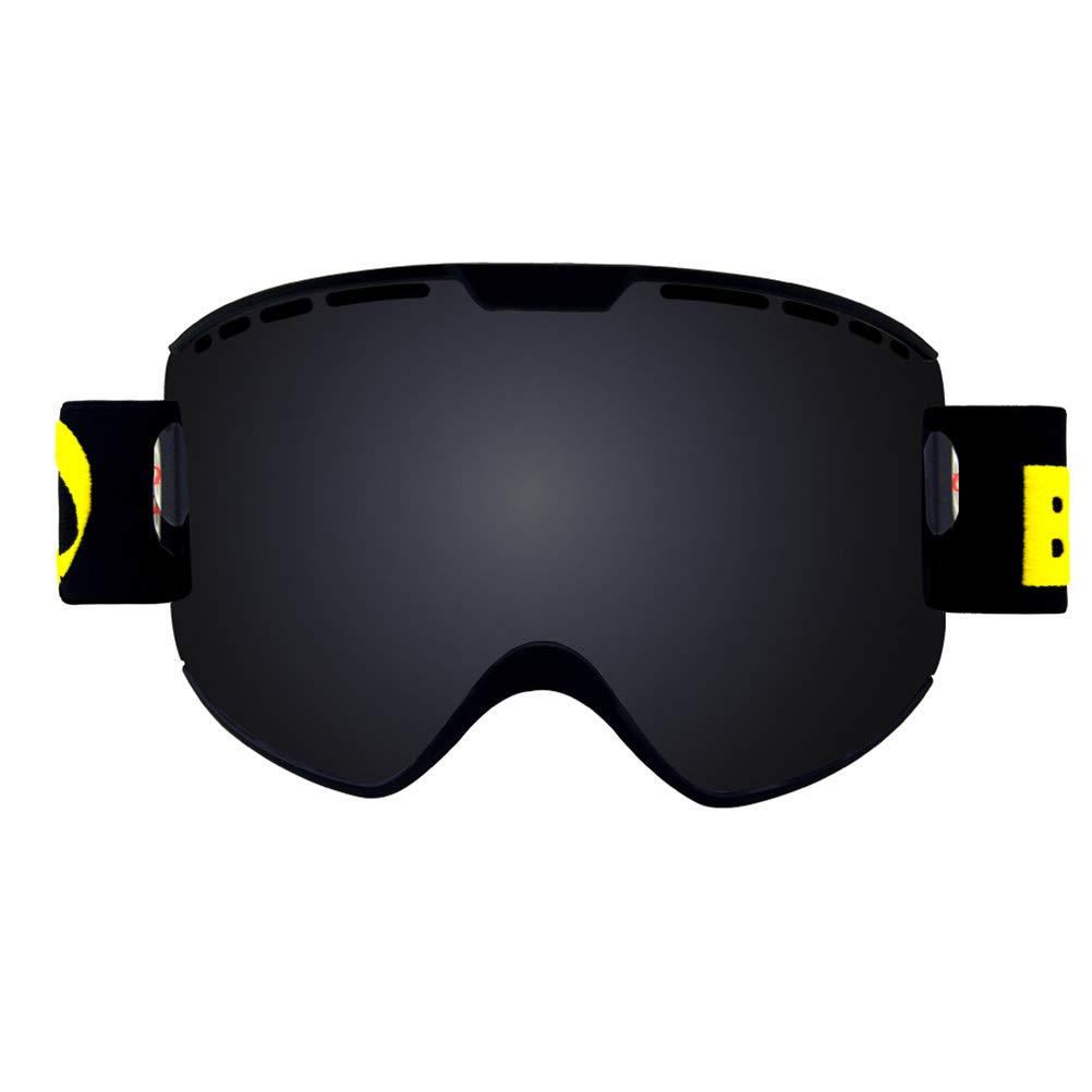 SJZC Lunettes De Ski Masques Prougeection Double SphéRique Hiver Sporting Plein Air,noir