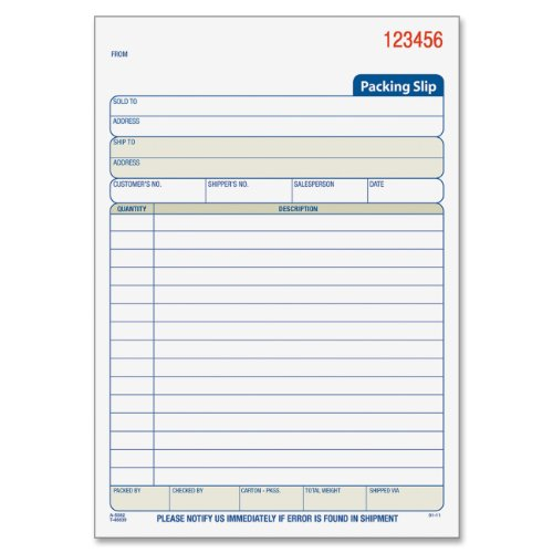 Packing Slip AmazonCom