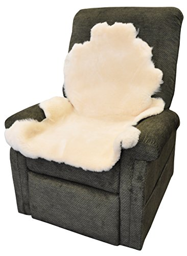 Blue Jay Soft N Plush Real Sheepskin - Natural Decubitus Prevention Pad, Real Natural Sheep Wool Provides Natural Warmth in the Cold, Approximately 6-7 Square Feet, Ivory, Pressure Relief Pad ()
