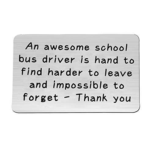 FEELMEM School Bus Driver Keychain Awesome Bus Driver Appreciation Gift Keychain Thank You Gifts for Driver, Back to School Gift (Card) ()