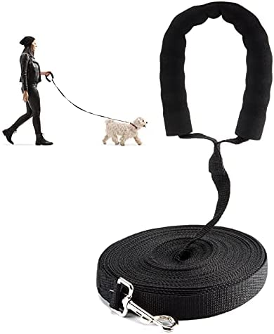 olyee Dog Training Lead 20m, Extra Long Nylon Dog Recall Leads Training Leash for Camping Tracking Training, Training Dog Lead Long Line Lead for Dog Tracking Training Obedience Lead