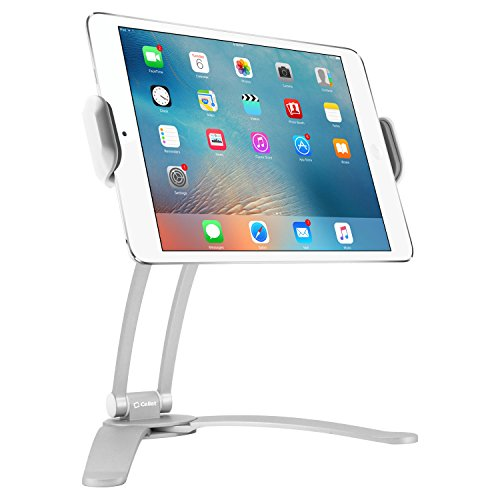 Desktop Wall - Cellet Kitchen Tablet Mount Stand 2-in-1 Kitchen Wall/Tabletop Desktop Mount Recipe Holder Stand for 7 to 13 Inch Tablet fits 2017 iPad Pro 12.9/9.7/Air/Mini, Surface Pro