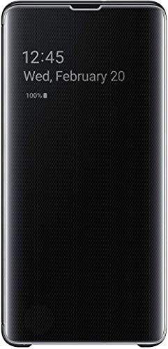 SAMSUNG Galaxy S10+ S-View Flip Case, Non Retail Packaging - Black - Model:EF-ZG975CBEGUS