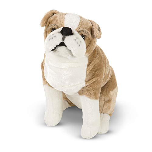 Melissa & Doug Giant English Bulldog - Lifelike Stuffed Animal (nearly 2 feet tall) -