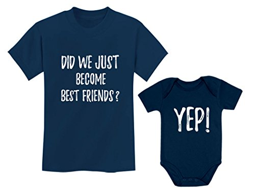 (Big Brother/Sister Little Brother/Sister Set Gift for Siblings Baby & Toddler Child Navy 5/6 / Baby Navy NB (0-3M))
