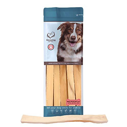 Beef Cheek Dog Chew - Healthy Rawhide Alternative - Beef Cheek Slice Chip Sticks - Odorless Dog Treat (10 Inch - 10 - Rawhide Beef