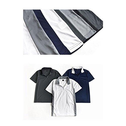 (アローナ) ARONA ポロシャツ メンズ 無地 速乾 ハーフジップカットソー 半袖 ゴルフウェア/M1.5/